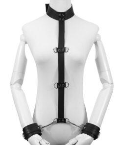 Leather Neck Hand Restraint Belt